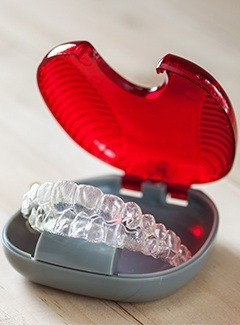 invisalign in red tray