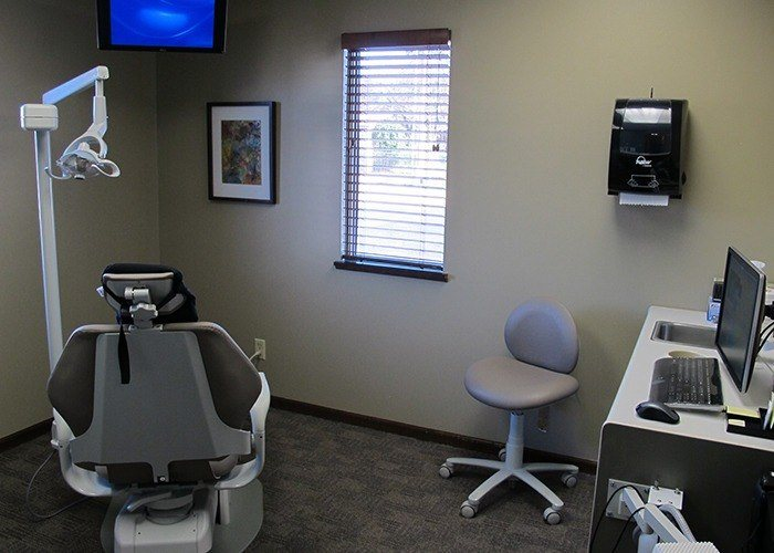 exam room and desk