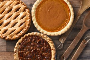 assorted holiday dessert pies