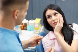 woman pain root canal